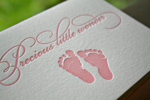 Baby Girl Letterpress Card