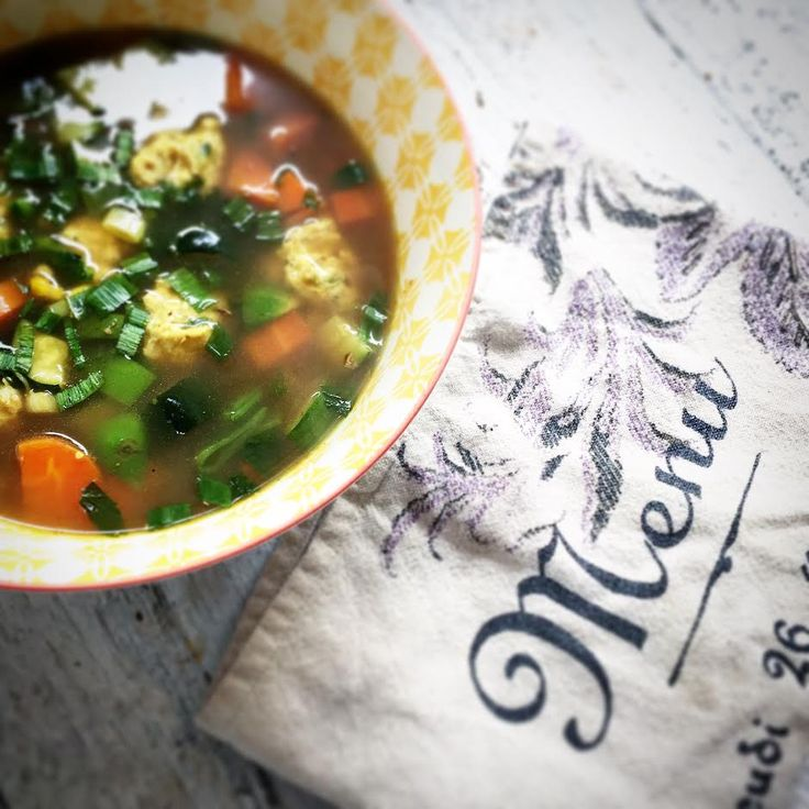 Organic and wholesome chicken dumpling soup recipe.