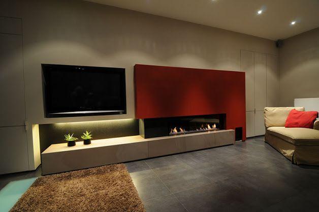 Home Cinema Foyer : Beste ideeën over het schilderen van een open haard op