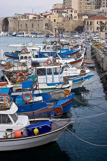 The old harbor in my hometown: Heraklion, Crete, Greece