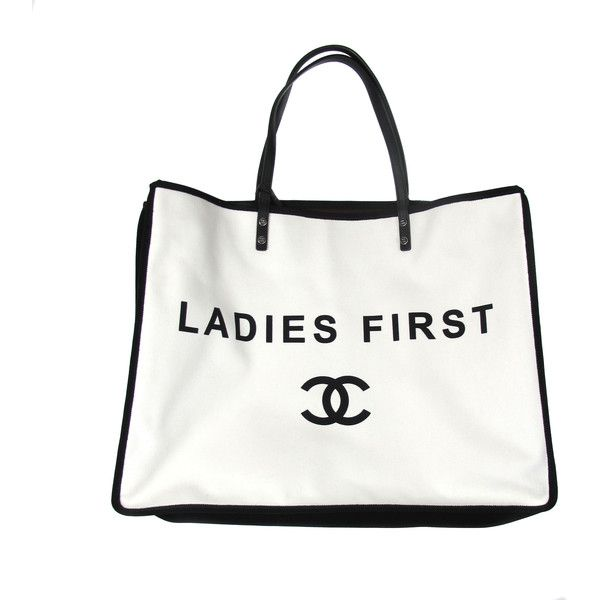 Pre-Owned Chanel Ladies First Whistle Bag - CC Logo White Black... ($2,499) ❤ liked on Polyvore featuring bags, handbags, white, colorful handbags, leather handbags, real leather handbags, purse and white leather handbags
