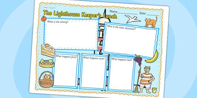 The Lighthouse Keepers Lunch Book Review Writing Frame - the lighthouse keepers lunch, book review, writing frame, book review writing frame, writing aid