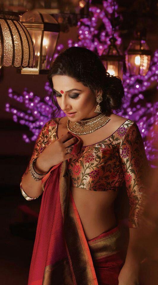 Nice saree nd jewellery....