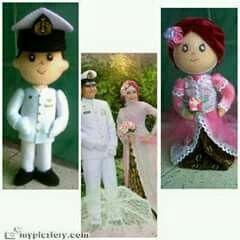 Hijab Wedding doll