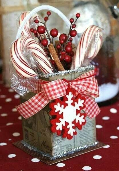 Country Christmas. I like the container. Could also work for some homemade cookies or other treats.