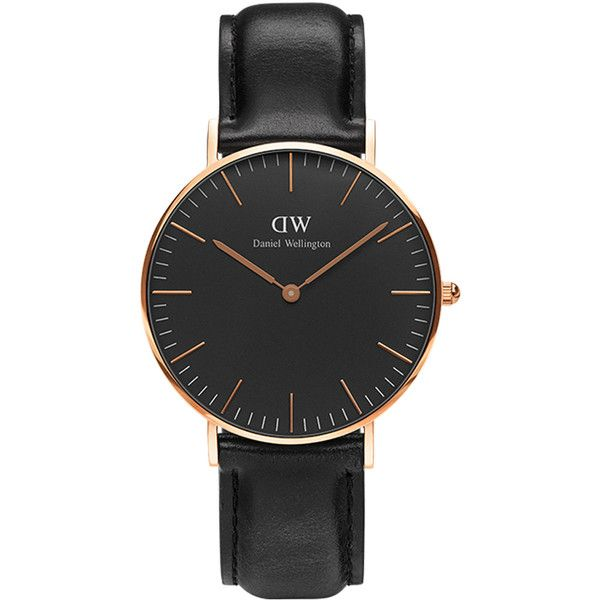 Daniel Wellington Classic Shefield 36mm Watch (3.004.650 IDR) ❤ liked on Polyvore featuring men's fashion, men's jewelry, men's watches, accessories, men, watches, mens rose gold watches, mens analog watches, mens watches and mens black and gold watches