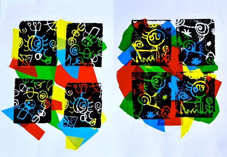 Joan Miro printmaking project, Arteascuola