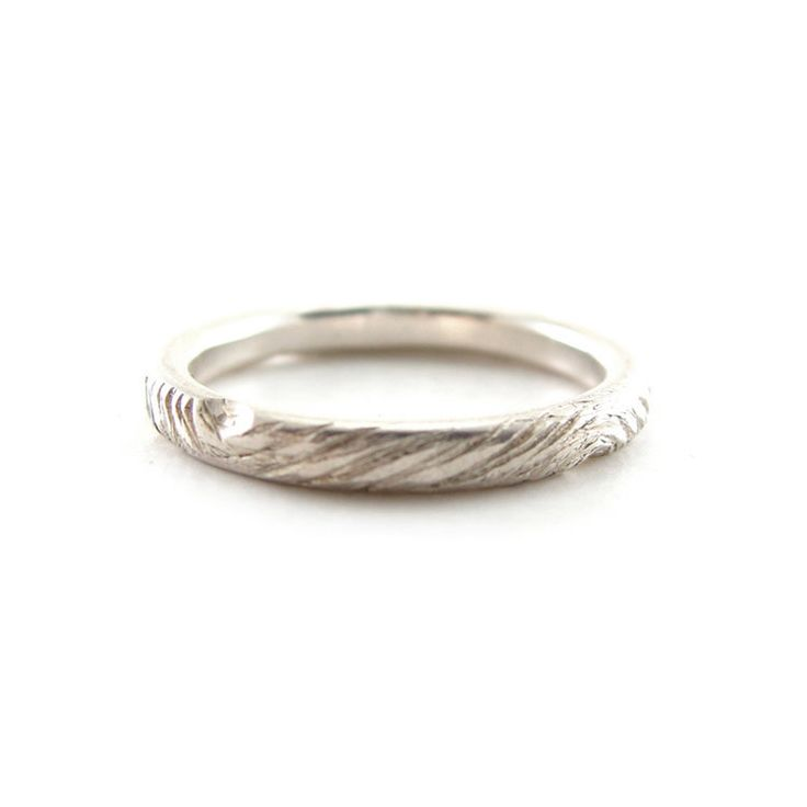woodland wedding band recycled 950 palladium eco friendly - Eco Friendly Wedding Rings