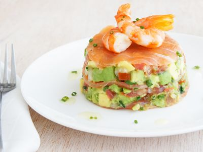 Smoked Salmon with Avocado Salsa and Prawns - Best Recipes