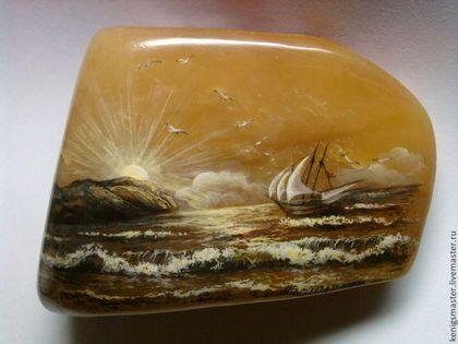Янтарная бухта - натуральный янтарь,балтийский янтарь,роспись по камню