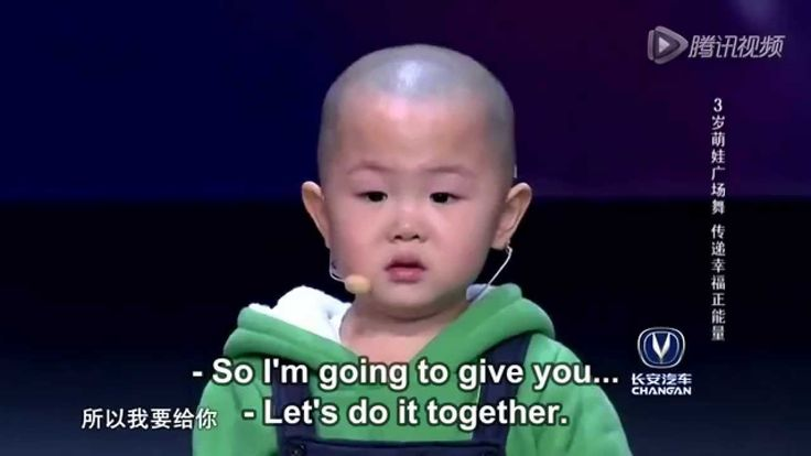 Adorable 3 year old is very happy to dance!  China got talent!  So sweet!  Watch now.