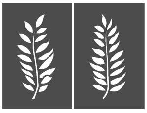 Ash Leaf Stencil Botanical Stencils