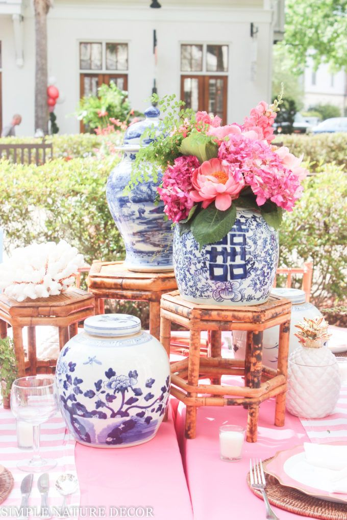 Coastal Living Party, tablescapes, outdoor parties, Simple Nature Decor