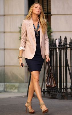 Boyfriend blazer over complimentary dress.: Light Pink Blazers, Shoes, Work Looks, Style, Blake Living, Dresses, Currently, Pink Blazers, Gossip Girls