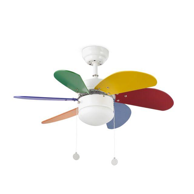 Ventilador de techo infantil de colores #ventiladores #decoracion #verano #climatizacion #calor #ventilacion #diseño #aire
