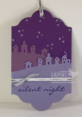 12 Days of Christmas Tags Day #2 using Stampin' Up! Jingle All The Way & Sleigh Ride. Debbie Henderson, Debbie's Designs