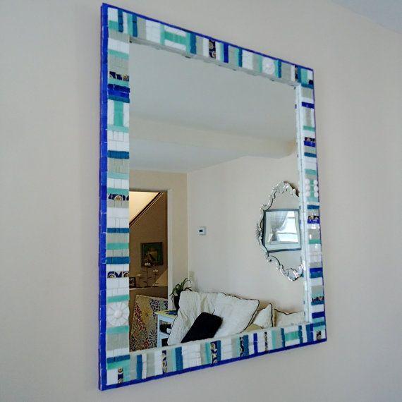 Bathroom Wall Mirror Decorative Mosaic Mirror By Live In Mosaics