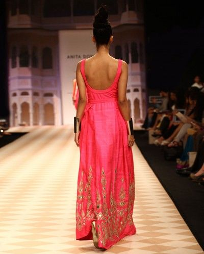 Back of hot pink Anita Dongre gown.  Stunning.  I want to wear this when Pickle's film is screened at Cannes.