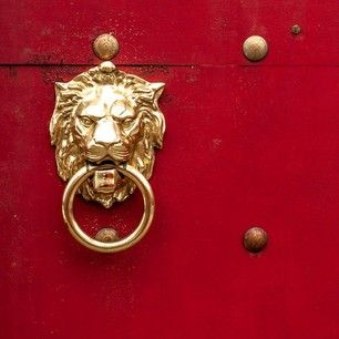 lion on the door