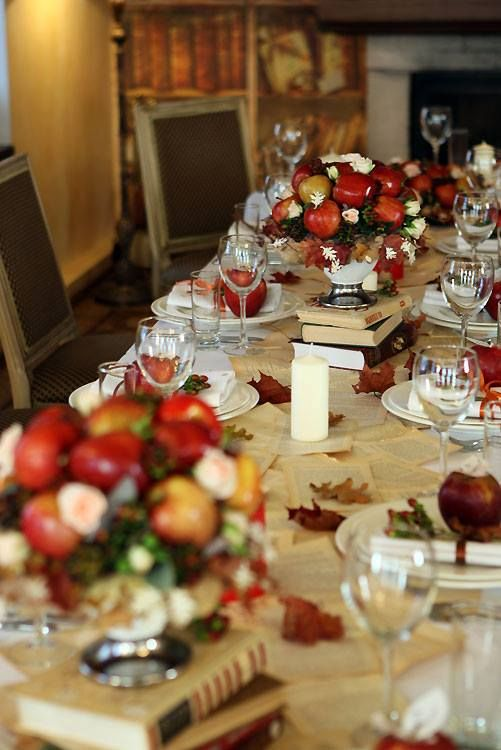 """осеняя свадьба с яблоками в стиле """"ретро"""""""