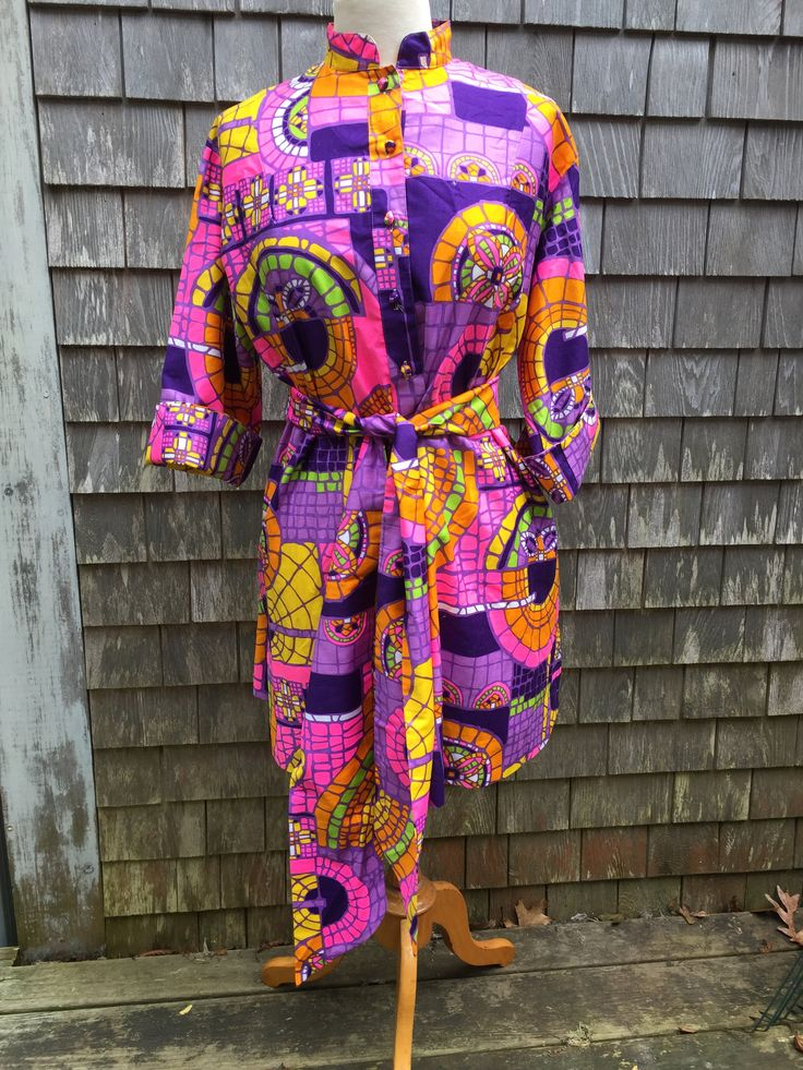 Vintage 1960s Penthouse Gallery Kimono/Shirt/Tunic Dress with Tie One Size by MonomoyResale on Etsy