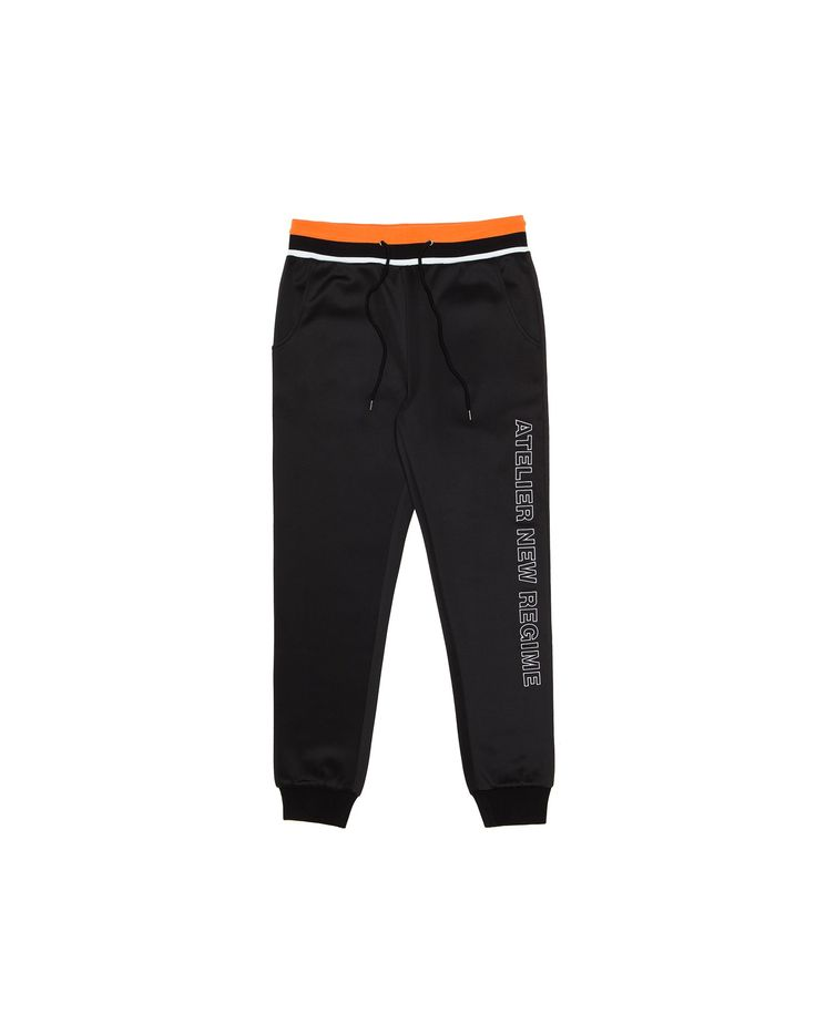 Made of a lightweight scuba knit, this classic slim fit track pants features the signature Atelier New Regime logo embroidery down the leg.