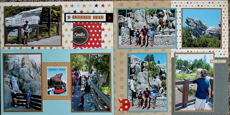 Disney California Adventure Grizzly Peak Scrapbook Page - 12x12 Layout - Scrapbook.com