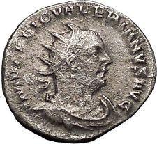 Valerian I 253AD Rare Silver Authentic Ancient Roman Coin APOLLO i55937