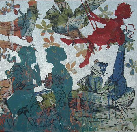 David Bromley - Playtime Diptych