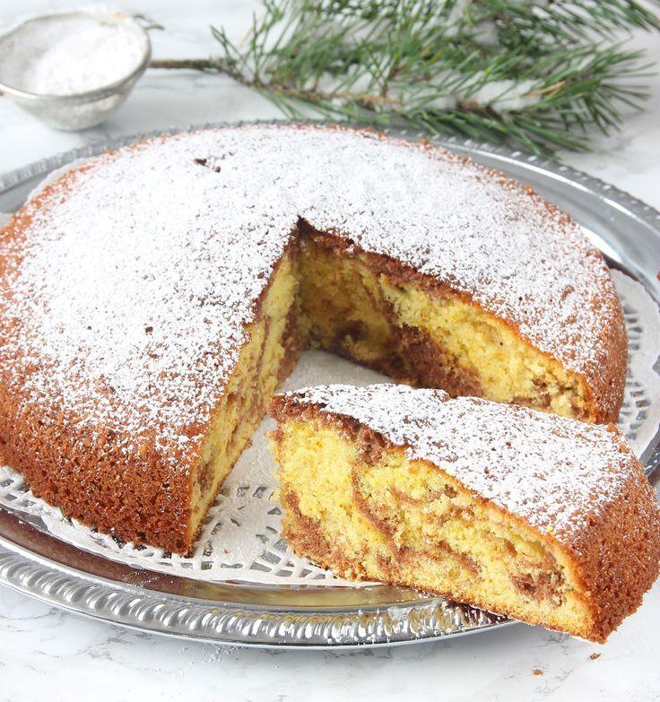 En supersaftig, marmorerad kaka med både saffran- och chokladsmet. En perfekt kombination!