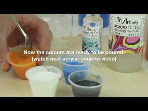 How to create cells in colour pours by using Liquid Glass Cell Flow Medium by Tri-Art Mfg. - makers of colour - YouTube Step#2