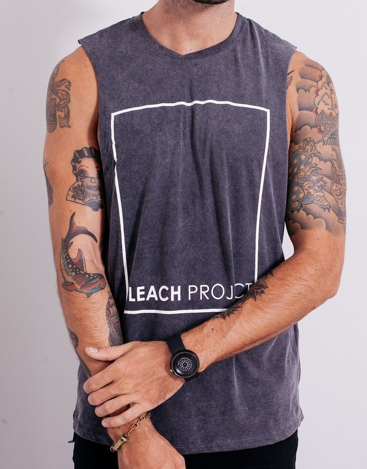Bleach BP Square Muscle Tee Black Wash