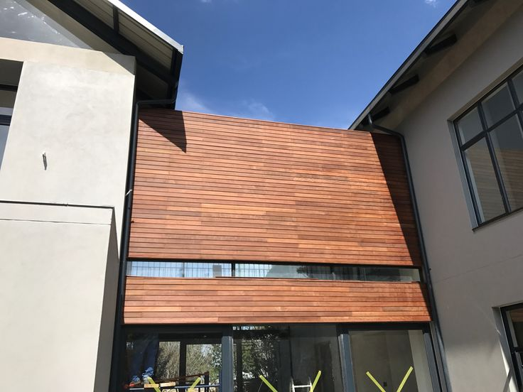 External timber cladding in Sandton by Havwoods