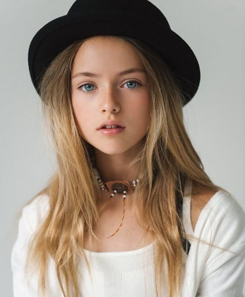 Time to retire models!  The 10 year old is here!  Laughing!  Kristina Pimenova - So beautiful,so pure & natural !!