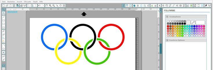 Olympische Ringe mit der Silhouette Software selber erstellen