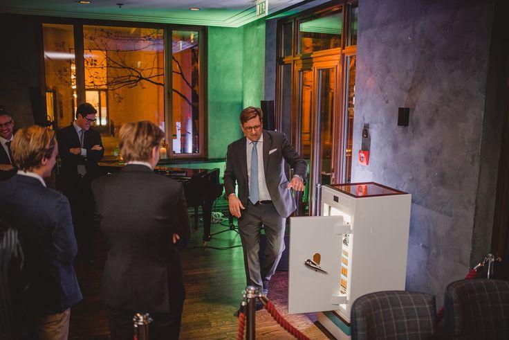 Matthias Fitzthum, CEO of STOCKINGER BESPOKE SAFES, presenting the new STOCKINGER SIRIUS AQUAMARINE #blumbag #gentsnight    #bespoke #design for #yachtlovers #gentlemen #luxurylifestyle   #blumbag #gentsnight #bespoke #handmade #gentleman #style #event #charleshotel #munich   #stockinger #stockingersafes #stockingervaults #luxury #safes #vault #protectwhatyoulove!