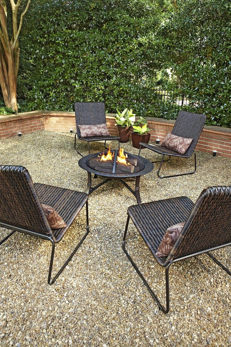 Gather around the fire pit with friends and family to roast marshmallows.