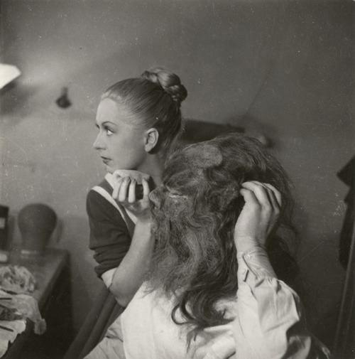 """Tournage du film """"La belle et la bête"""" de Jean Cocteau"""