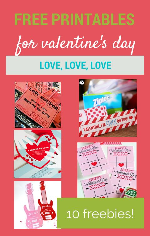 Free printables for Valentine's Day!