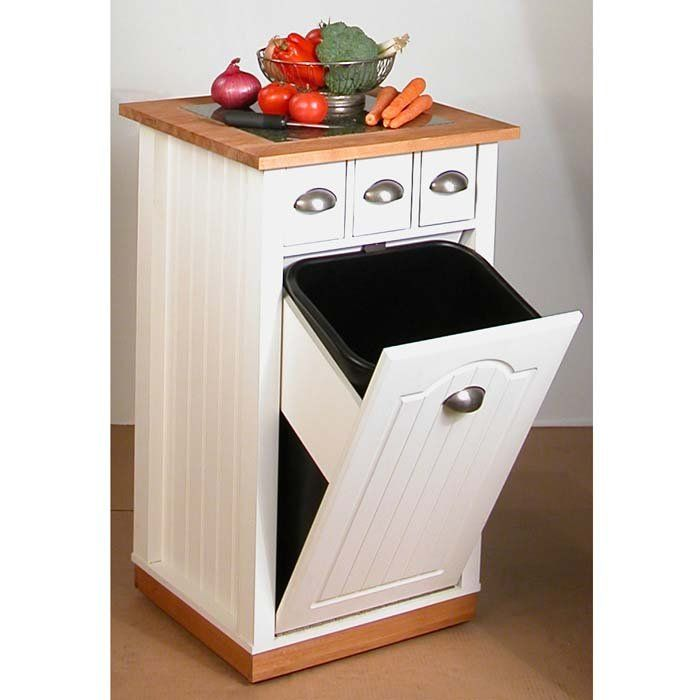Find This Pin And More On Trash Can Diy Cabinets Venture Horizon Granite Top Butcher Block Bin