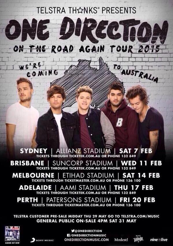 Koncert poster for Australia