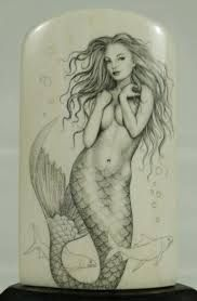 Image result for realistic mermaid drawings