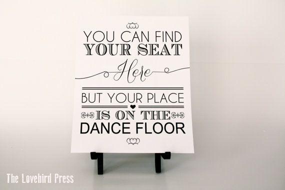 Printable Wedding Seating Plan Dance Floor by TheLovebirdPress, $5.00