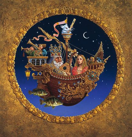 James C. Christensen - THE ROYAL MUSIC BARQUE -  LIMITED EDITION PRINT Published by the Greenwich Workshop