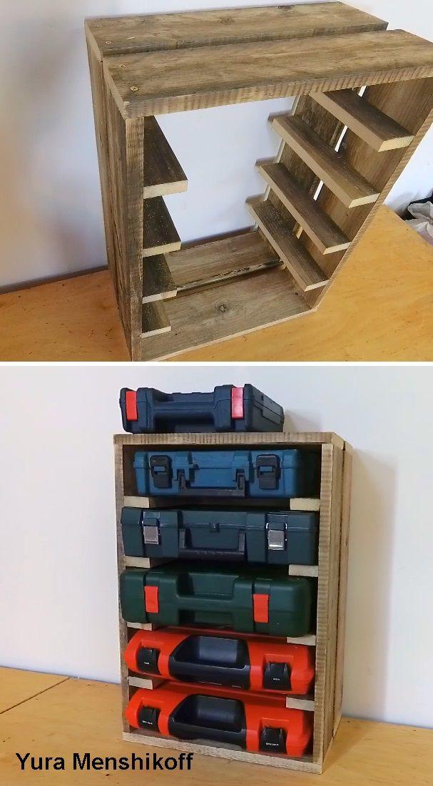 Diy Organizer Rack Plastic Tool Case Tool Case Reused Tool