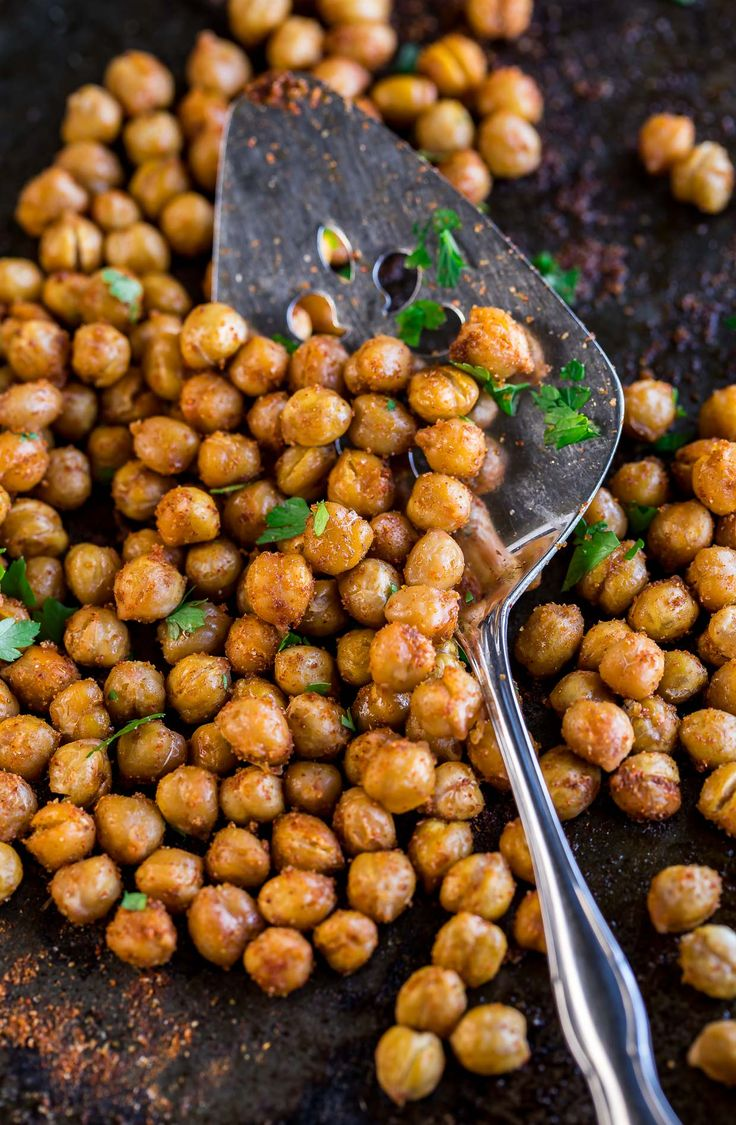 Taco Seasoned Roasted Chickpeas  – vege and such