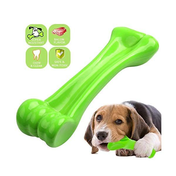 Oneisall Durable Dog Chew Toys Bone Chew Toy For Aggressive