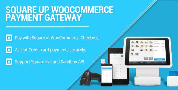 WooCommerce Square Up Payment Gateway . Square live/Sandbox Payment Gateway from WooCommerce Checkout.  Your checkout page must be SSL certificate activated for Square payments.  Square card payment acceptance, with the Square Register app is currently available in the US, Canada, and Australia.  Accept Credit card payments