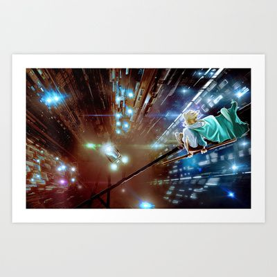 High Wire Art Print by Andy Heather - $17.00