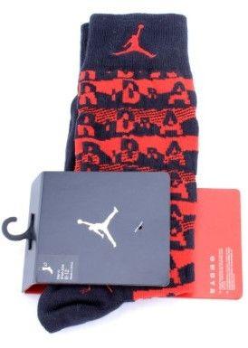 Nike [631714-010] AIR JORDAN XI AIR SNEAKER+ SOCK ACCESSORIES SOCKS AIR JORDANBLACK BLUE (Black/Gym Red, M/6-8)